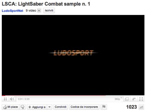 LudoSport: Lightsaber Duel 1.000 visualizzazioni